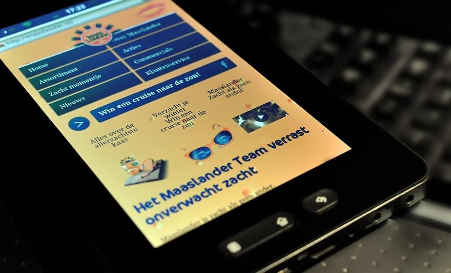 Maaslander responsive ontwerp - dMOTION | full-stack development, Rotterdam